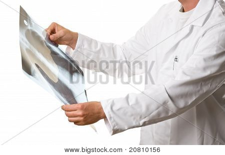 Doctor Checking Xray Image