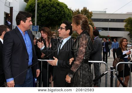 LOS ANGELES - JUN 8:  Kyle Chandler, J.J. Abrams & Wife arriving at the
