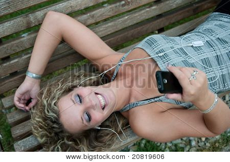 On The Phone - Woman Outdoors