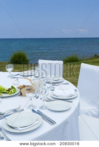 Gourme Lunch On The Sea Shore