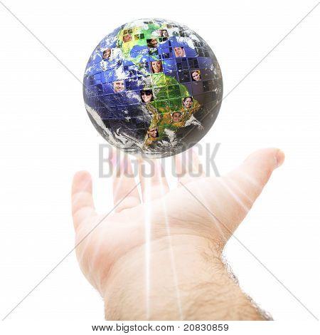 Worldwide Global Communication Concept