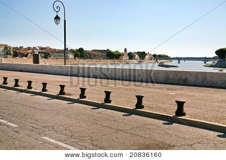 Road On Levee Of River