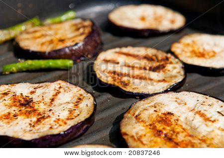 Grilled Eggplants And Asparagus