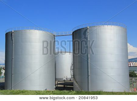 Oil Tanks At Vernier, Genva, Switzerland