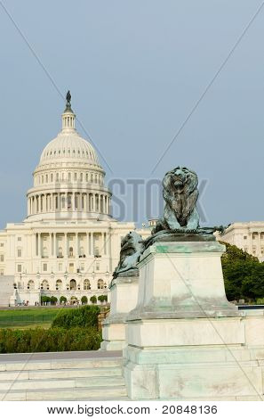 Washington DC - US Capitol building lion statue