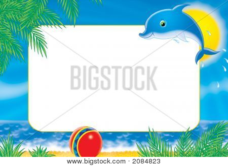 "Photo-Frame ""Dolphin"""