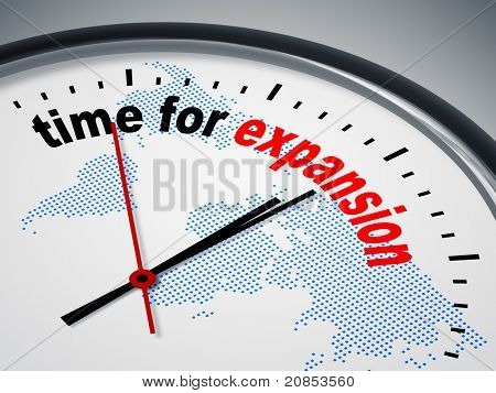 An image of a nice clock with time for expansion