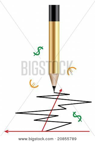 Vector Pencil And A Graph