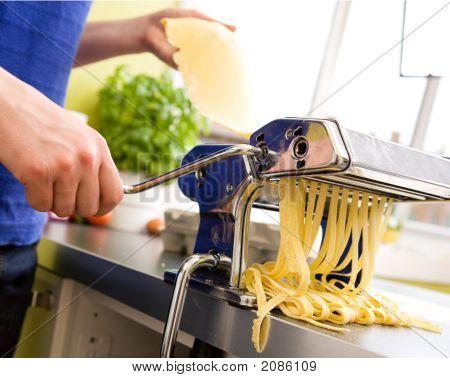 Homemade Pasta Fettuccine Detail