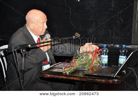 BEER-SHEVA,NEGEV,ISRAEL, 26.05.2011:The russian cosmonaut Alexey Leonov,The Festival LIMUD 2011.