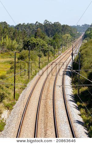 Empty Two Way Railroad