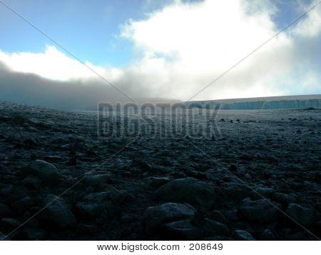 Furtwangler Glacier On Mt. Kilimanjaro