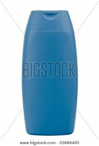 Blue Shampoo Bottle