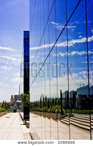 Business Reflecting And Modern Building