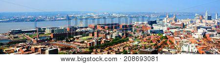 Liverpool UK Aerial
