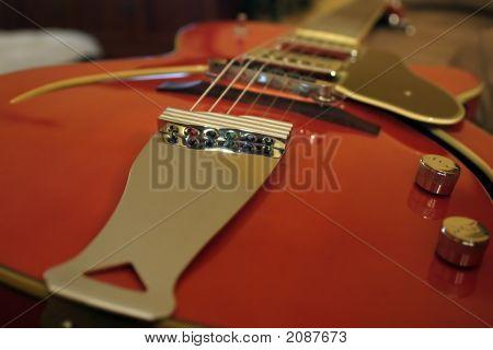 Orange Hollow Body Guitar