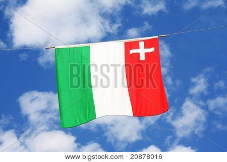 Swiss Cantons Flag Series - Nuenburg