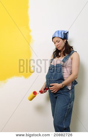 Expectant Mother Painting