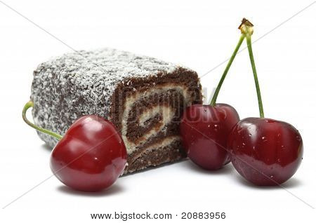 Coco Roll Bar With Cherries