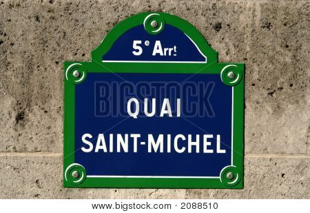 Street Name Sign, Paris, France