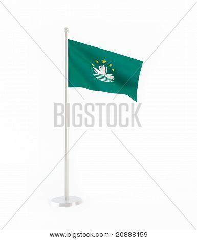 3D flag of Macau