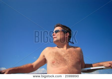 Nice Man, Sun And Blue Sky