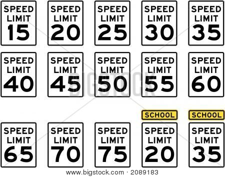 U.S. Speed Limit Signs