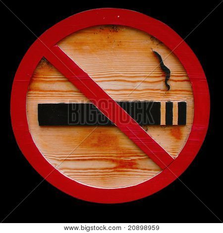 Wooden No Smoking Sign