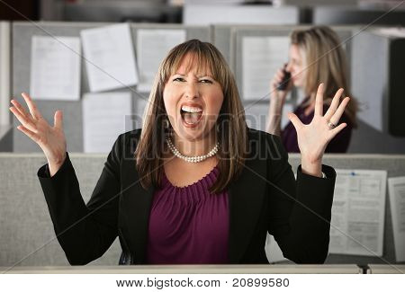 Frustrated Woman Employee