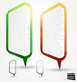 Постер, плакат: Фон абстрактного говорить пузырь для дизайна
