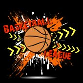 Background Abstract Basketball Ball From Blots poster