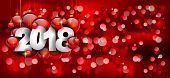 2018 Happy New Year Background for your Seasonal Flyers and Greetings Card or Christmas themed invit poster