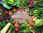 Assortment Fresh Organic Vegetables Frame Market poster