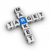 stock photo of blue white  - target market  - JPG