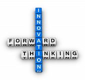 image of blue white  - forward thinking innovation   - JPG