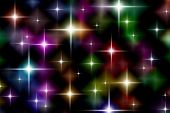 Festive Starry Lights Background