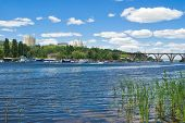 pic of dnepropetrovsk  - Summer landscape of big Ukrainian city Dnepropetrovsk  - JPG