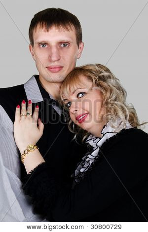 Portrait Of A Happy Young Couple