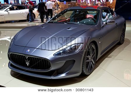 GENEVA - MARCH 8: A Maserati GT on display at the 81st International Motor Show Palexpo-Geneva on March 8, 2011 in Geneva, Switzerland.