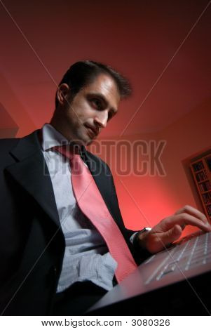 Executive With Laptop