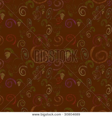 Seamless Abstract Background With Flowers