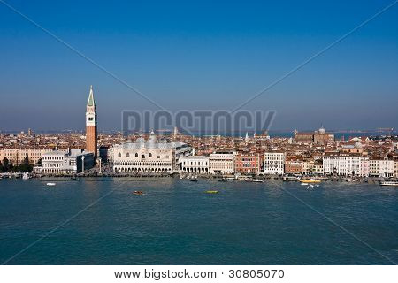 Aerial View Of Saint Mark's Square In Venice