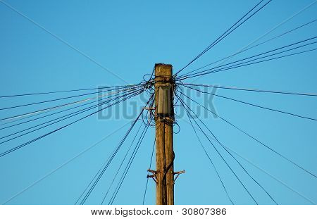 Top of telegraph pole