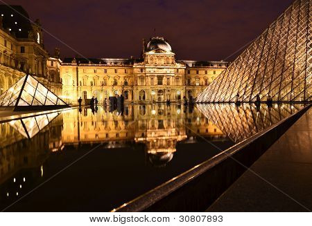 Louvre Museum at night