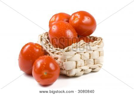 Fresh Tomatoes With Waterdrops.