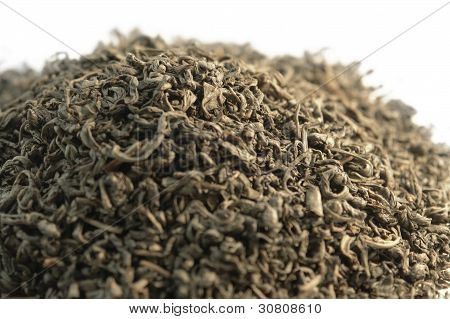 Pile Of Chinese Gunpowder Tea