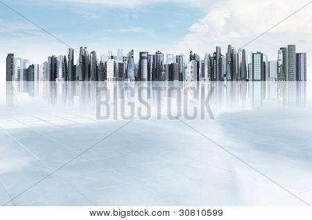 Modern city background.