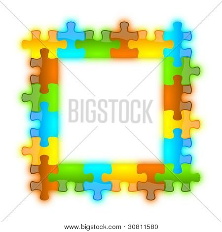 Color, Glossy, Brilliant And Jazzy Puzzle Frame 6 X 6