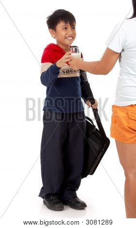 Young Boy Holding