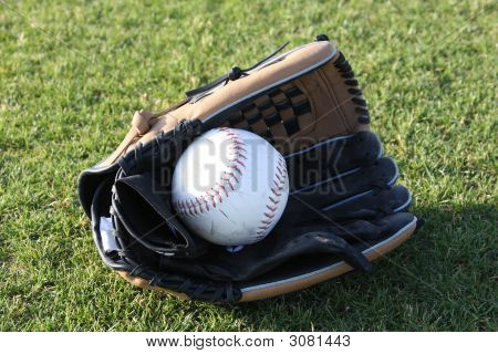 Softball Glove Centered